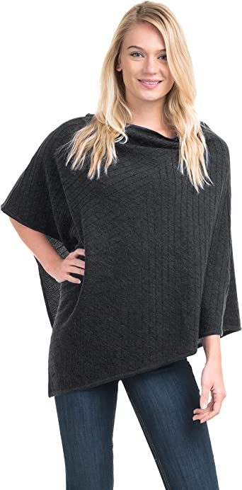 Norwegian Womens 100/% Merino Wool Wrap Cape Shawl Poncho Sweater Coat V-Poncho