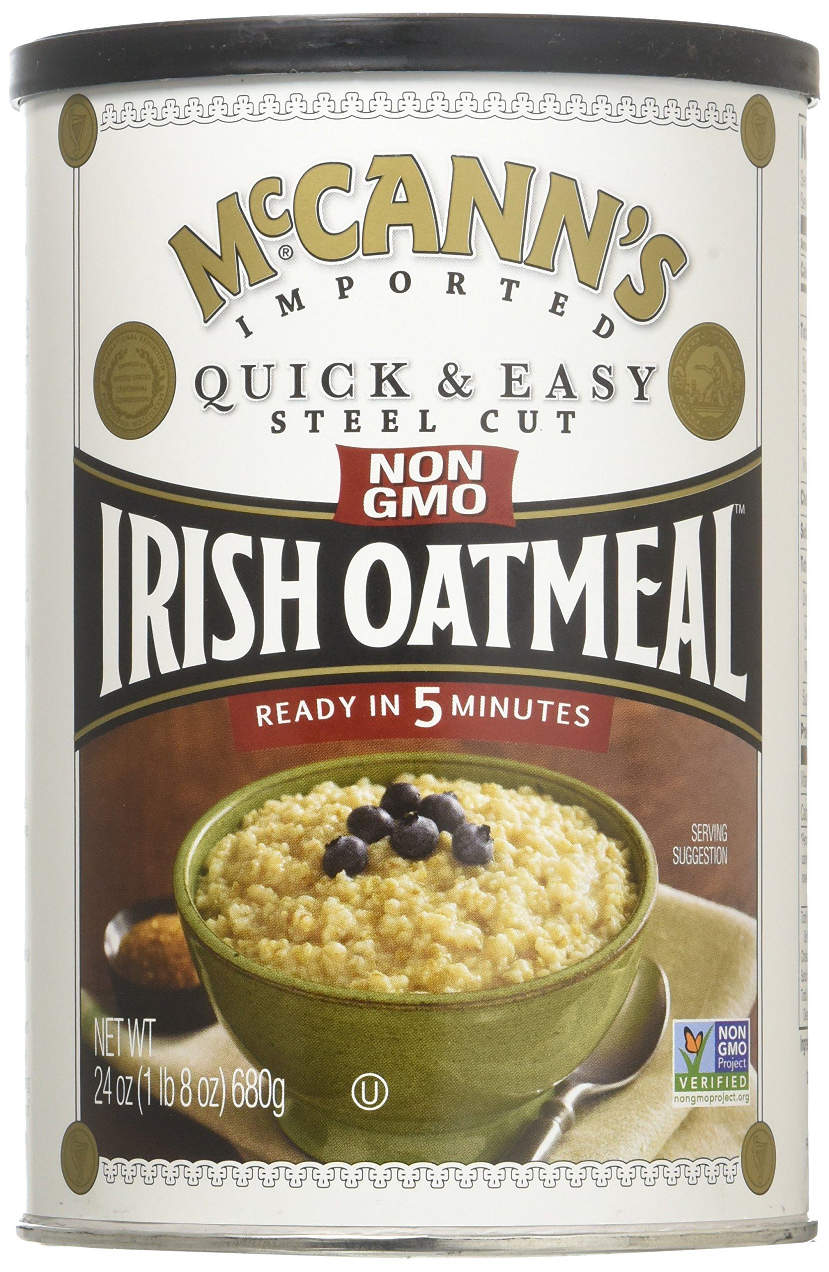 McCann's Quick and Easy Steel Cut Irish Oatmeal, 24 Ounce - 12 per case.