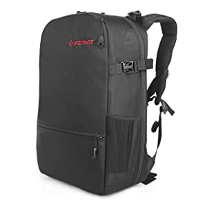 IFOOTAGE Camera Backpack Waterproof Shockproof Photography Bag for Shark Slider Mini, DSLR Cameras, Lens, Tripods, Laptops with Rain Cover, 19 x 13.4 x 7.9 inches