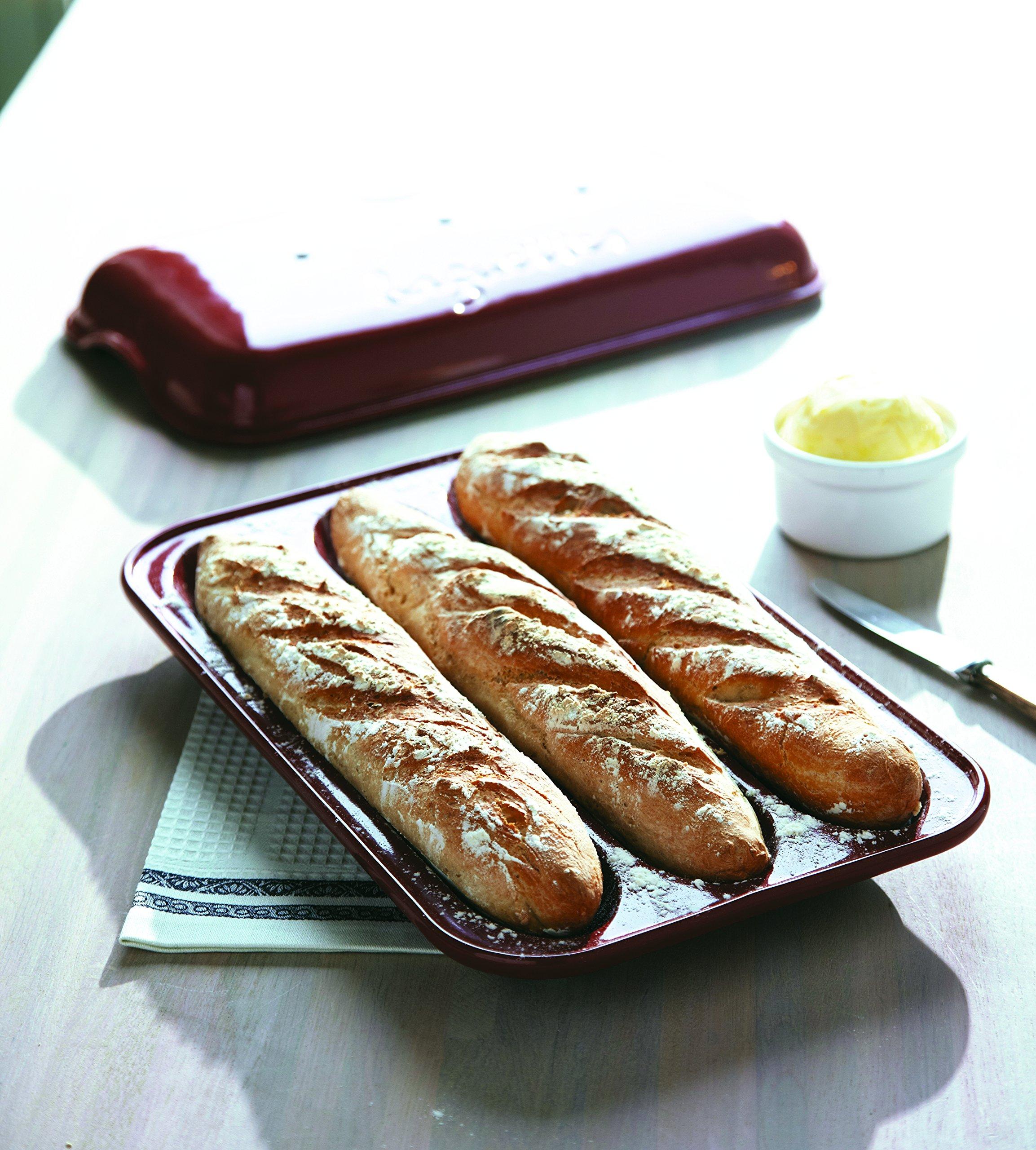 Emile Henry Made In France Baguette Baker, 15.4 x 9.4'''', Burgundy by Emile Henry (Image #7)