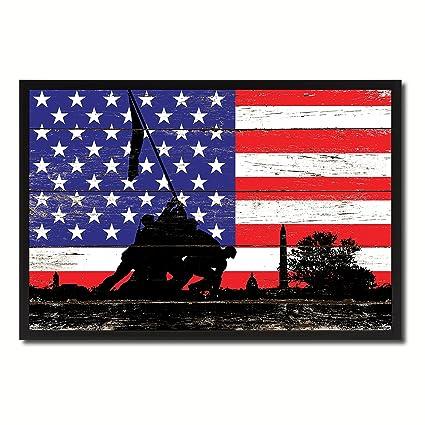 amazon com iwo jima wwii veterans memorial usa flag vintage canvas