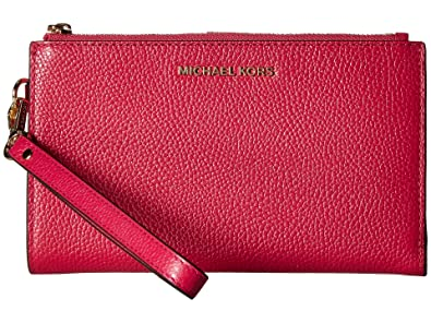 c94cd1728c99 MICHAEL Michael Kors Women's Adele Double Zip Wristlet: Handbags ...