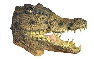 Ciao 28134 – Máscara cocodrilo de látex, marrón