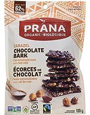 PRANA Carazel Caramelized Nuts with Sea Salt Dark Chocolate Bark, 100g