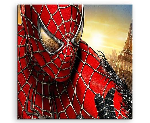 Spider Man Mask Lienzo en 60 x 60 cm. Fabricado en Alemania ...