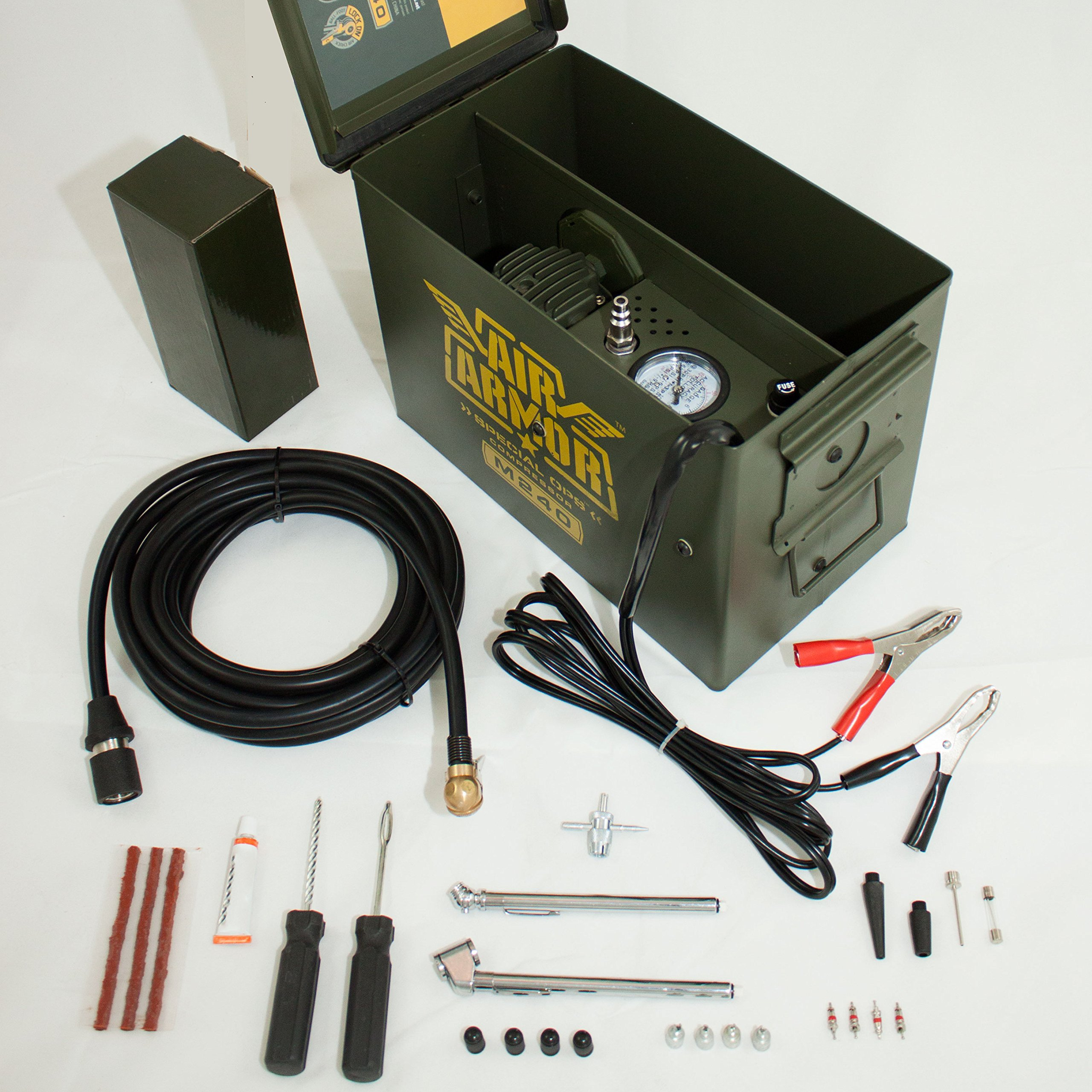Air Armor M240 Portable 12-Volt Tactical Air Compressor Kit Tire Inflator by Air Armor (Image #2)