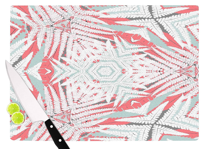11.5 x 8.25 KESS InHouse AC1110ACB01 Alison CoxonPlanthouse Raspberry Coral Gray Cutting Board Multi