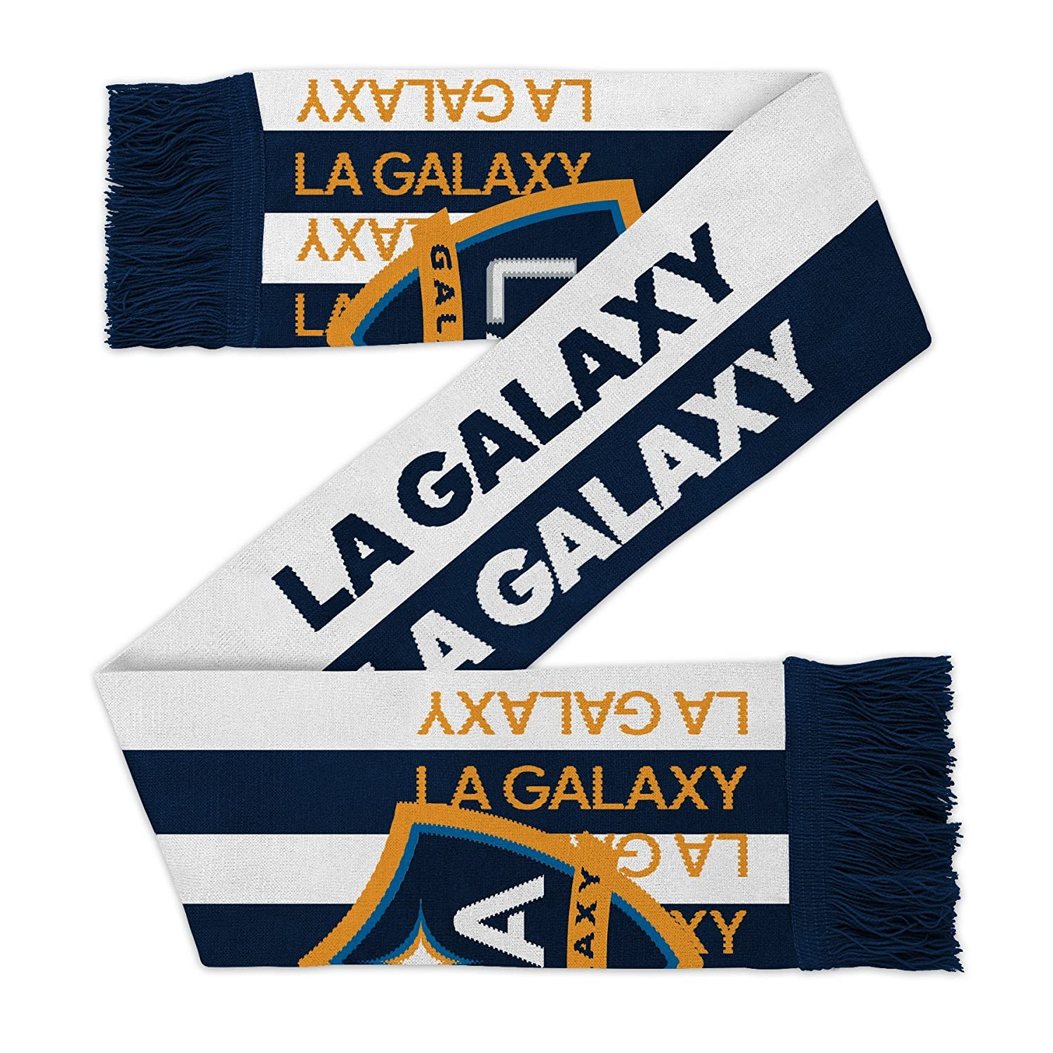 Team Color Youth One Size MLS Los Angeles Galaxy Youth Outerstuff Fan Stripe Scarf