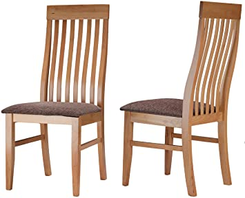 Cortesi Home Como Mission Style Dining Chair In Light Maple Finish