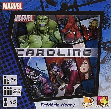 Asmodee editions Cardline Juego de Cartas, diseño de Marvel ...