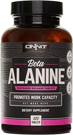 New Onnit Beta Alanine Tablets 120ct Boost Work Capacity, Buffer Lactic Acid Get More Reps Caffeine Free