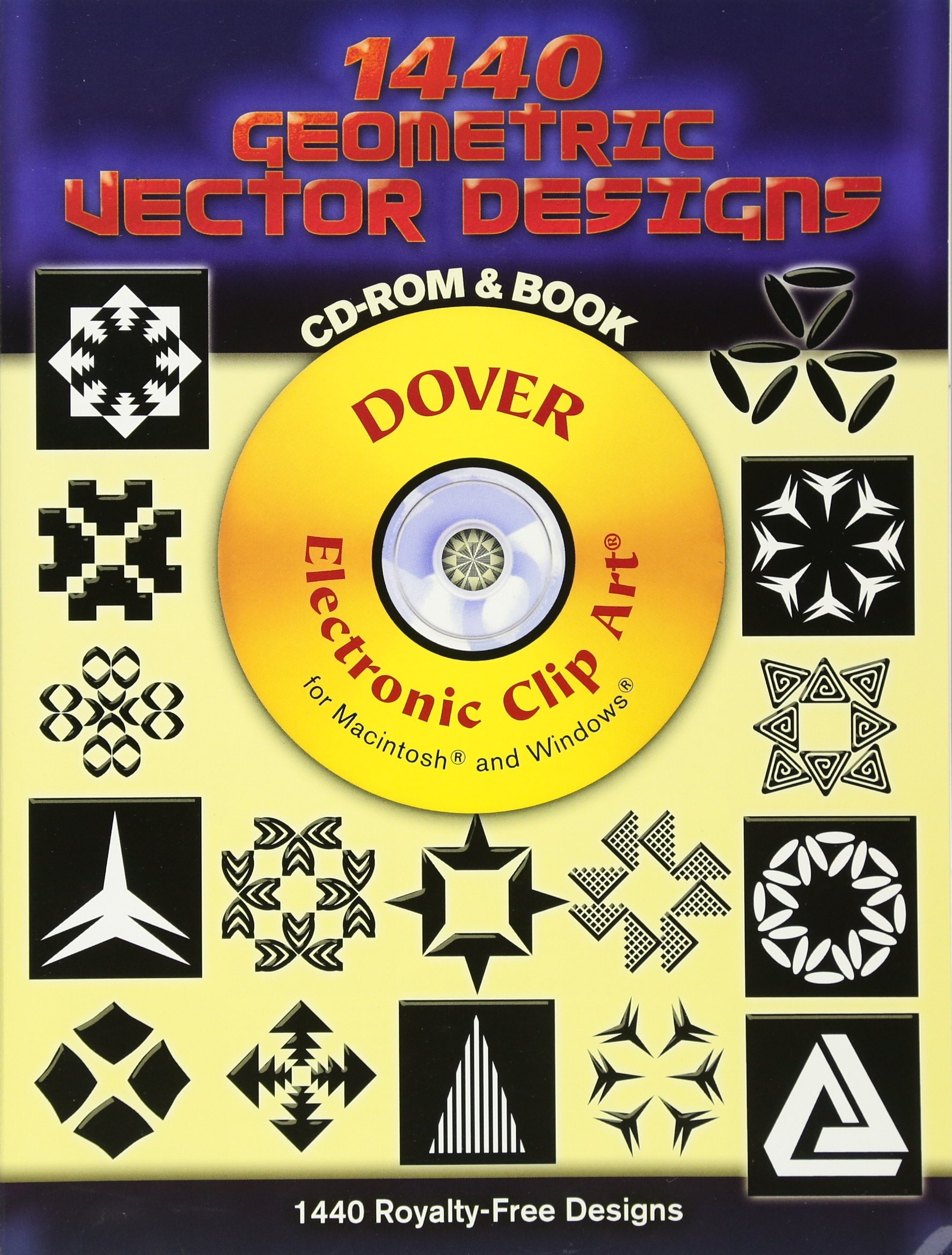 1440 Geometric Vector Designs CD-ROM and Book (Dover Electronic Clip Art) pdf epub