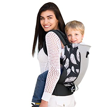 420b185ab6a Amazon.com   lillebaby 3 in 1 Carryon Toddler Carrier- Charcoal with  Feathers   Baby
