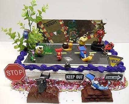 Turbo 18 Piece Birthday Cake Topper Set Featuring 1