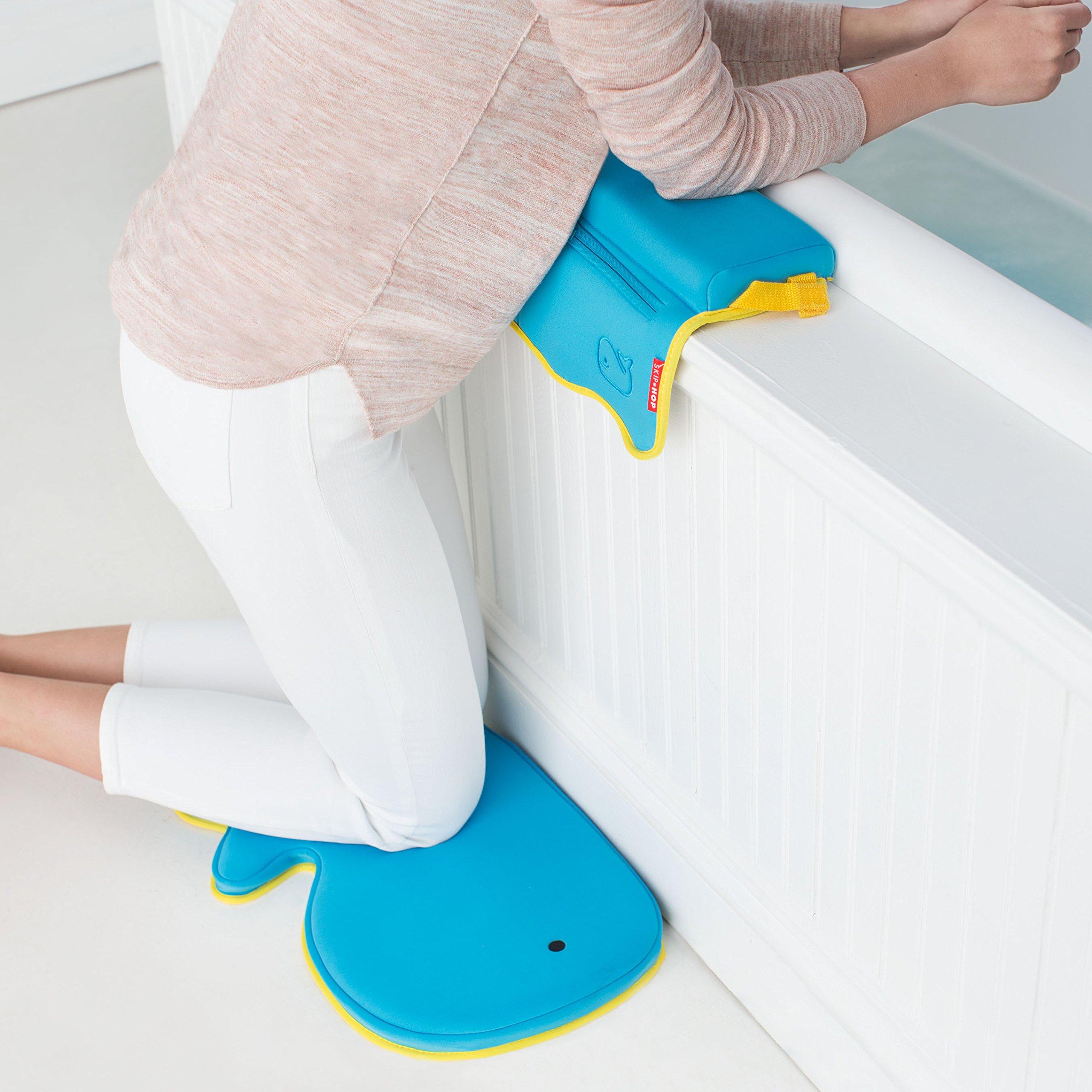 Skip Hop Moby Baby Bath Set, Four Bathtime Essentials - Spout Cover, Bath Kneeler, Elbow Pad, And Bath Mat, Blue by Skip Hop (Image #6)
