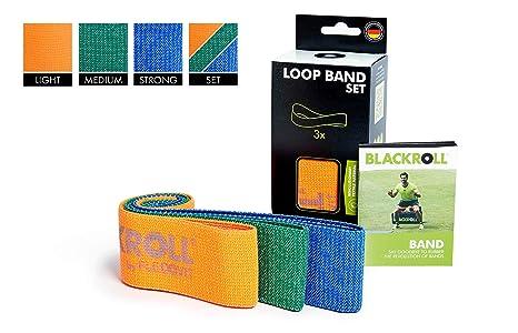 BLACKROLL® LOOP BAND – Fitness-Bänder. Trainings-Bänder in 3 verschiedenen Widerstandsstärken. Gymnastik-Bänder für eine stab