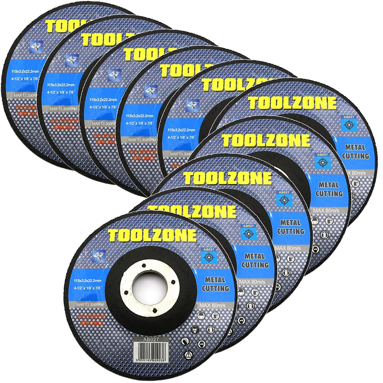 5x 115mm Depressed Centre Cutting Discs 3.2mm Thin Angle Grinder Wheels