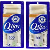 Q-tips Antimicrobial Cotton Swabs, 300 Count (Pack of 2)