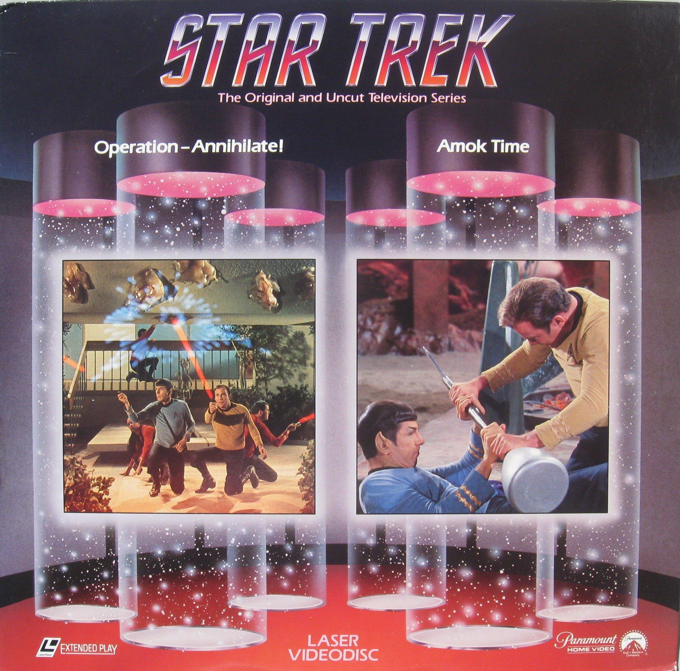 Star Trek: Operation Annihilate! / Amok Time LASERDISC (NOT A DVD!!!) Original TV Episodes Format: Laser Disc