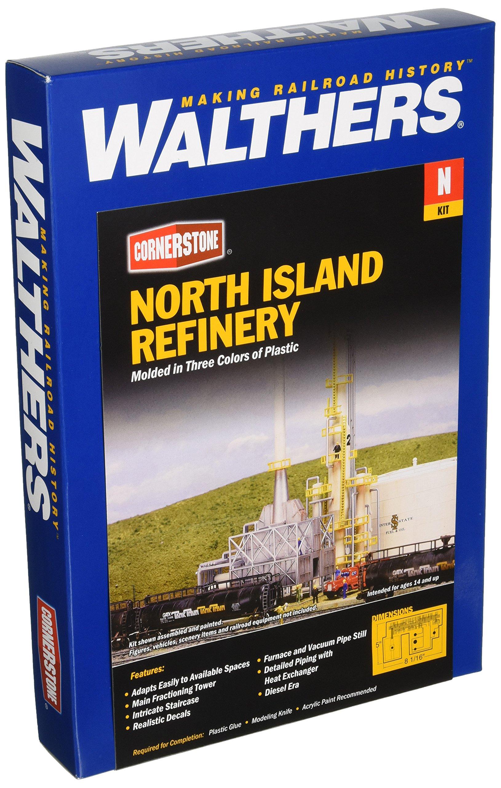 Walthers, Inc. North Island Oil Refinery Kit, 8-1/16 X 5'' 20.5 X 12.7cm