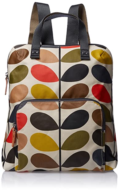 ETC by Orla Kiely Women s Classic Multi Stem Backpack Tote 4bfde4a19a66d