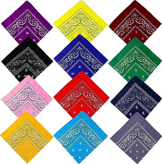2 abat-jour coloré unisexe Paisley Bandana Tête foulard