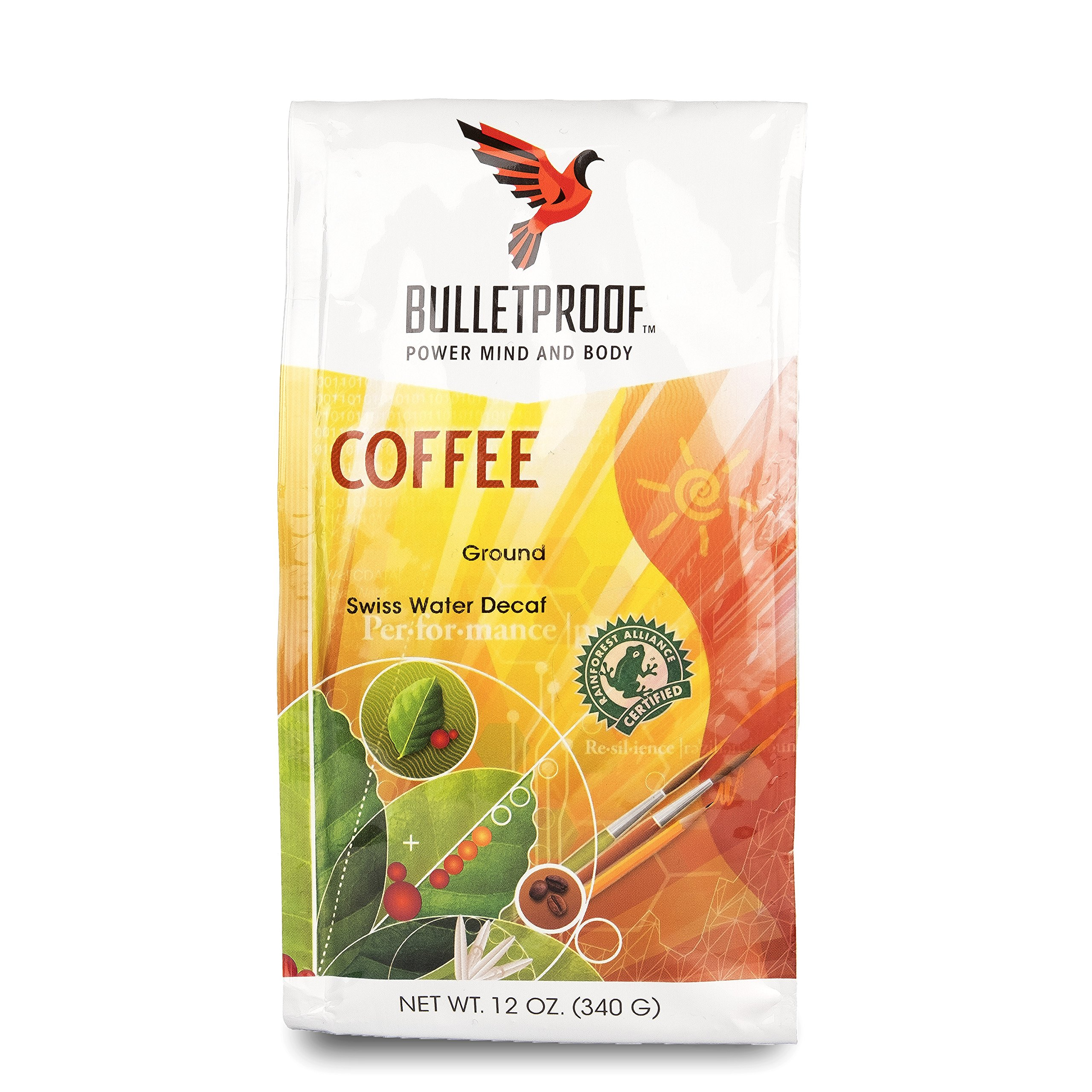 Bulletproof The Original Ground Decaf Coffee, Upgraded Coffee Upgrades Your Day (12 Ounces)