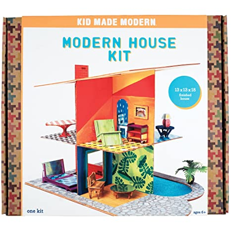 Amazon Com Kid Made Modern Modern House Craft Kit Kids Arts