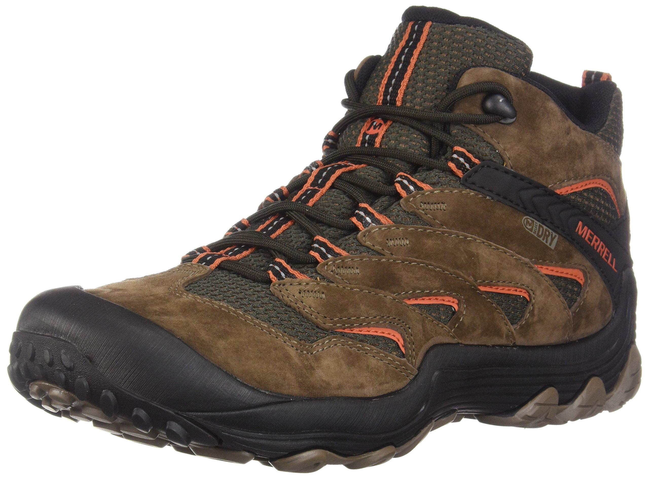 Merrell Men's Chameleon 7 Limit Mid Waterproof Hiking Boot, Stone, 11.5 Medium US