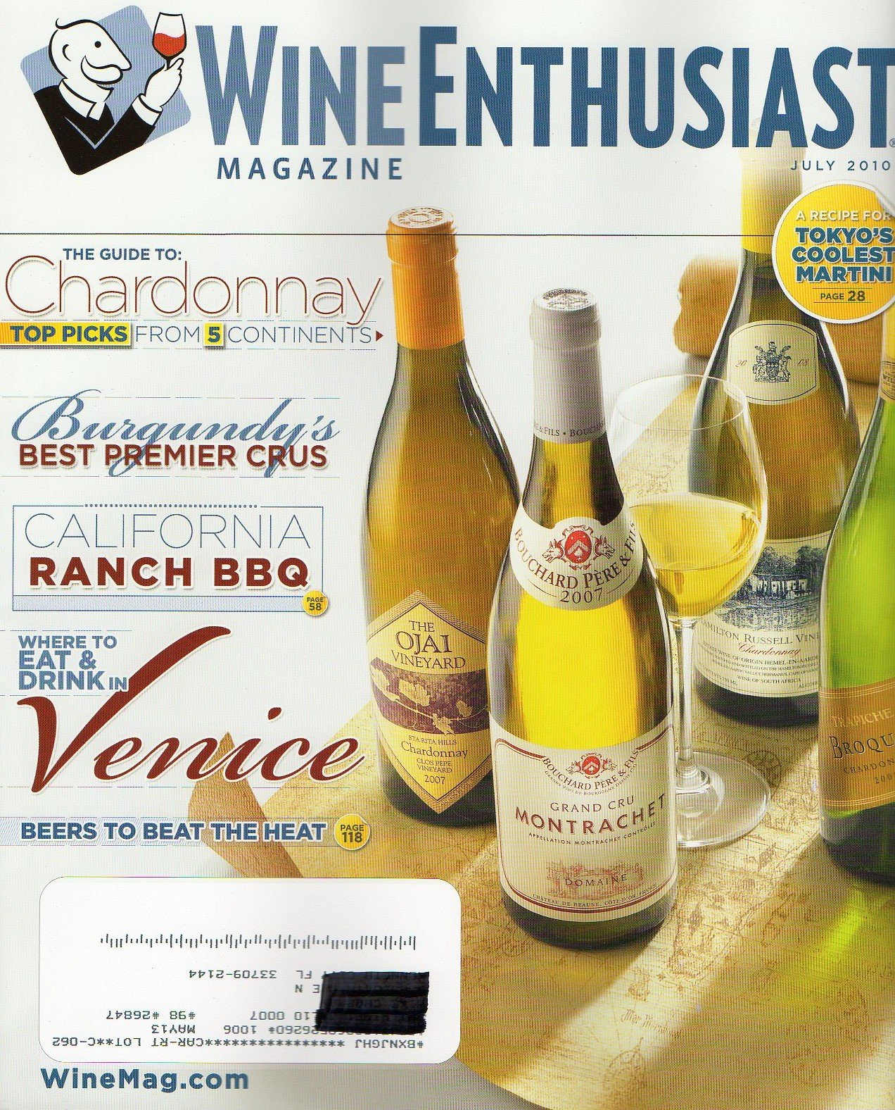 Read Online Wine Enthusiast July 2010 Magazine THE GUIDE TO CHARDONNAY: TOP PICKS FROM 5 CONTINENTS Burgundy's Best Premier Crus pdf