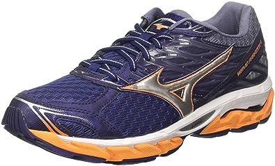 ab8a527b1853 Mizuno Wave Paradox 4, Mens Running, Multicolored  (Eclipse/Silver/Brightmarigold 04