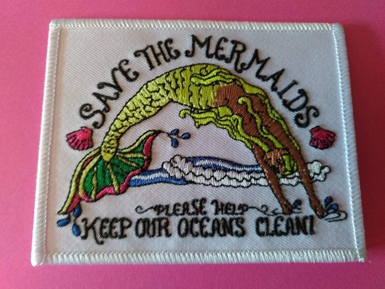 BLUE HAWAI D396 Save The Mermaids Patch 10 x 8 cm