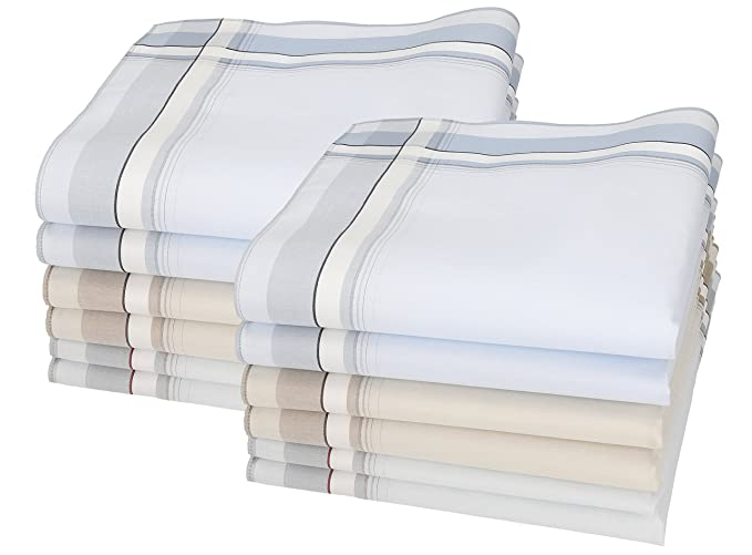 12 piezas pañuelos hombres Lord 3 Tamaño: 43x43 cm 100% algodón ...