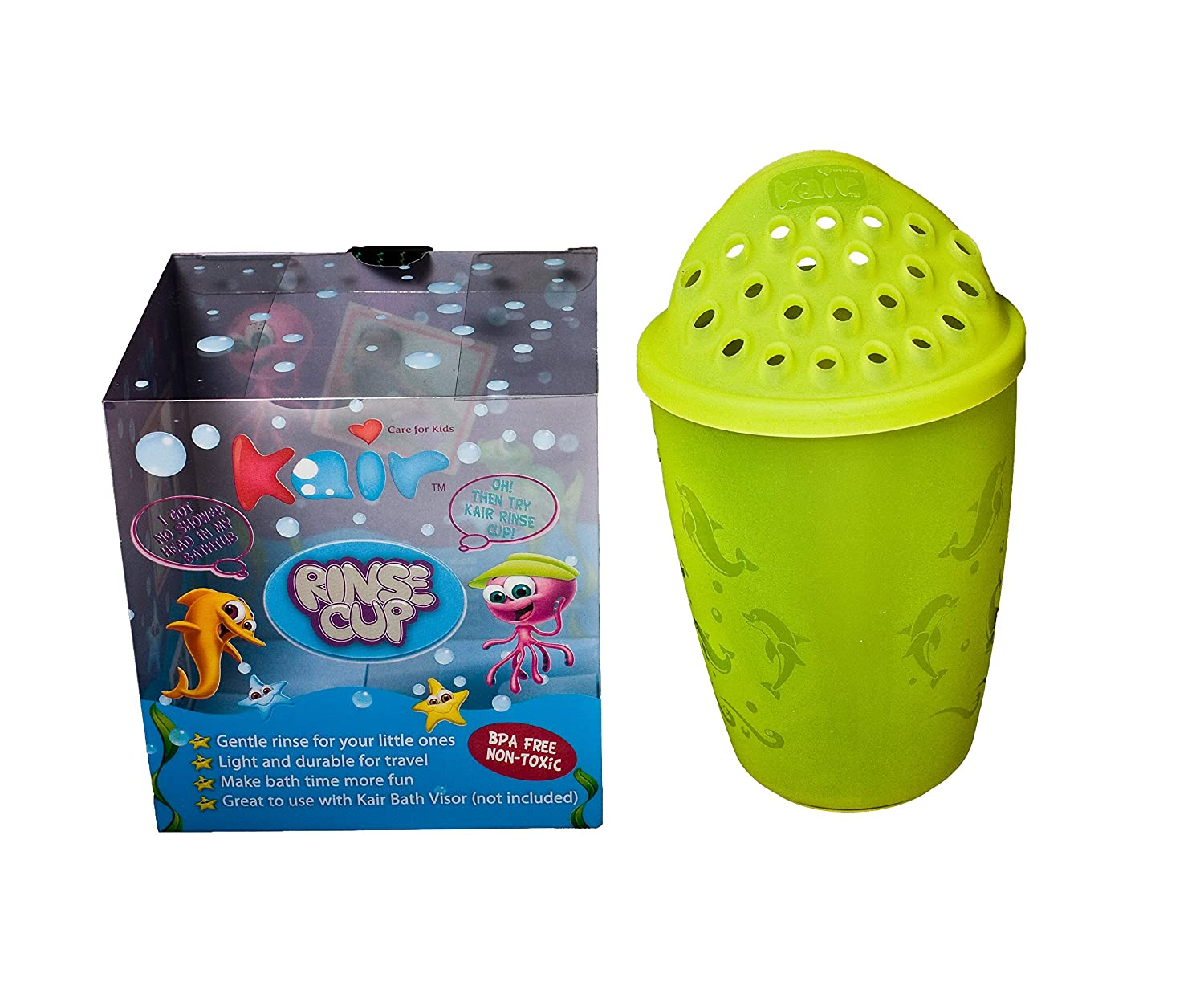 Kair Baby/Kids Wash Hair Eye Shield Bath Shampoo Rinse Cup-Green KRC-GREEN