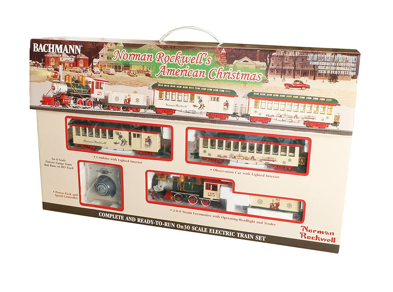 Ho Christmas Train.Bachmann Trains Norman Rockwell S American Christmas Ready To Run Electric Train Set On30 Scale Runs On Ho Track