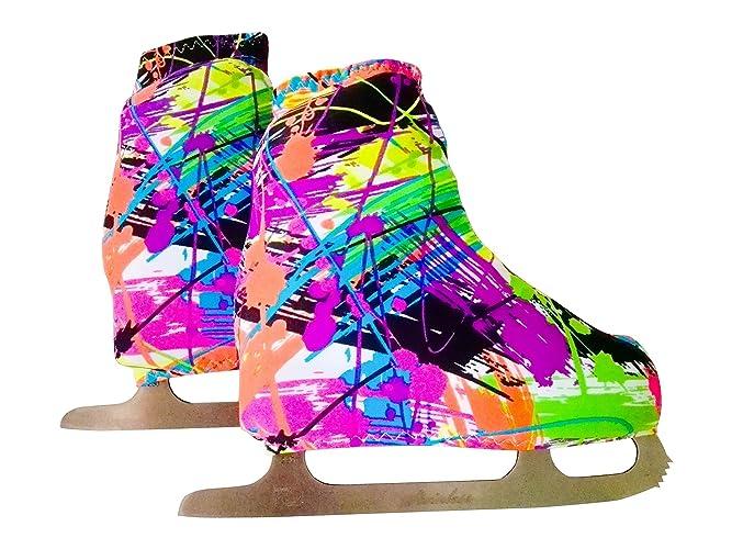 Funda Cubre patines para patinaje artistico sobre ruedas o sobre hielo, impresión MURALES
