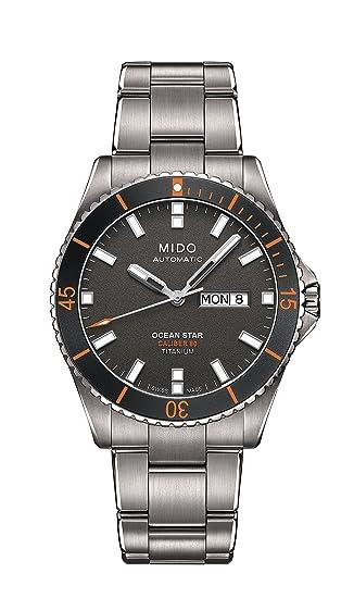 4bac46f99da2 Mido Ocean Star Reloj de hombre automático 42mm correa y caja de titanio  color plata M026