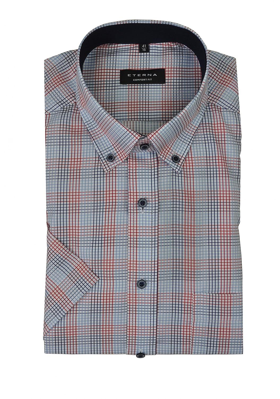 Michaelax-Fashion-Trade Eterna - Comfort Fit - Bügelfreies Herren Kurzarm  Hemd mit Button-Down Kragen (3589 K144)  Amazon.de  Bekleidung 168c2201e8