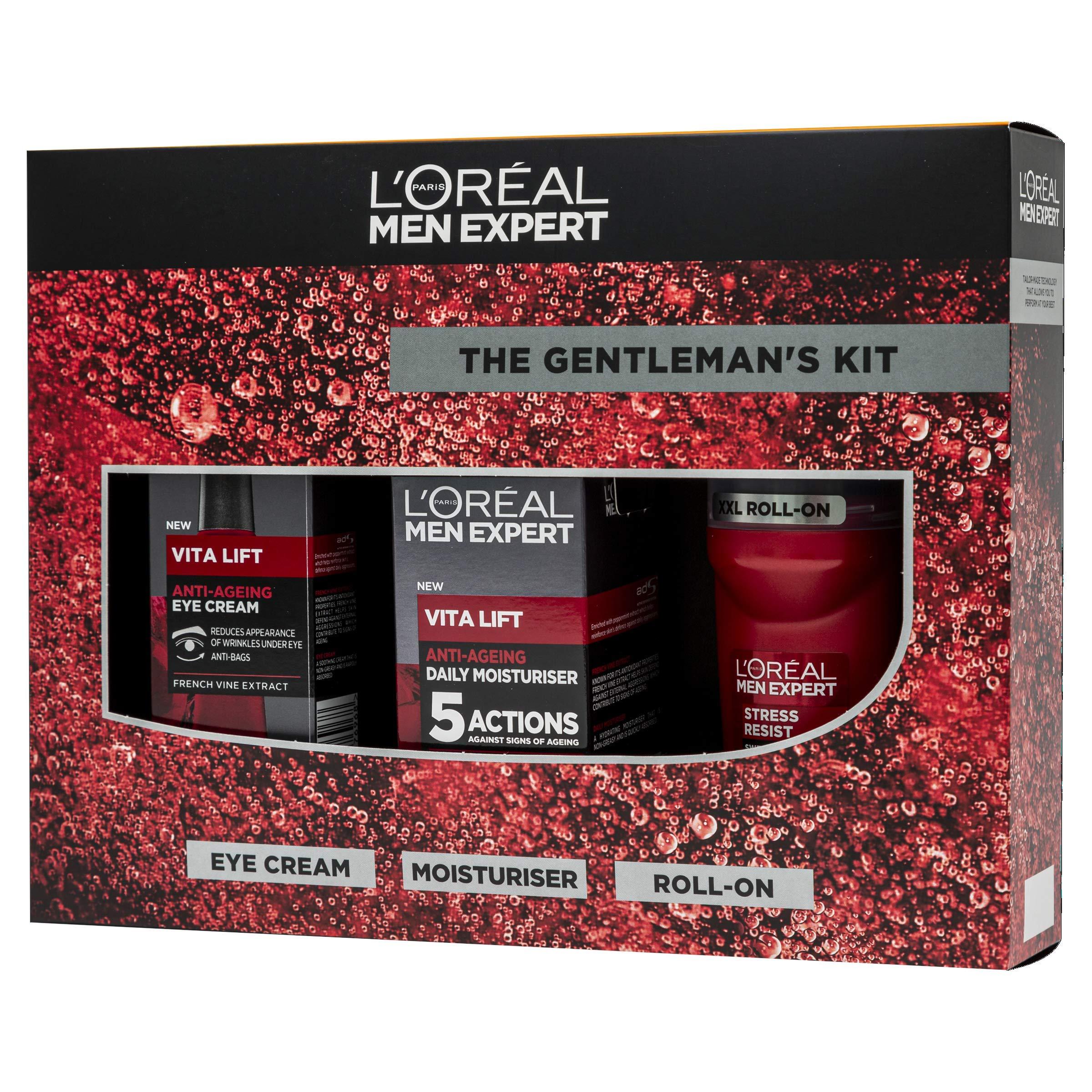 L'Oreal Men Expert Gentleman's Anti Ageing Git Set: Revitalising Gel, Eye Cream & Deodorant