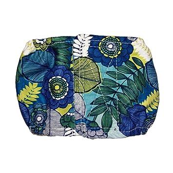 Macho perro pañales – fabricado en Estados Unidos – azul flor, lavable perro vientre banda