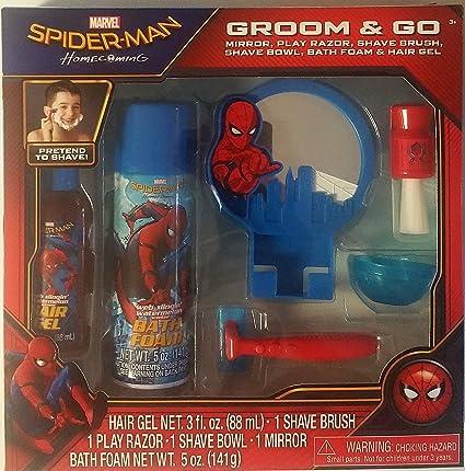 Spiderman Homecomig Groom & Go, Mirror, Play Razor, Shave Brush, Shave Bowl, Bath Foam and Hair Gel