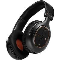 Alpatronix HX101 - Auriculares Bluetooth universales HD con aislamiento de ruido, auriculares estéreo inalámbricos integrados con micrófono, controles de volumen/reproducción, AptX, CVC 6.0, BT 4.1 [30 horas de tiempo de reproducción], color negro