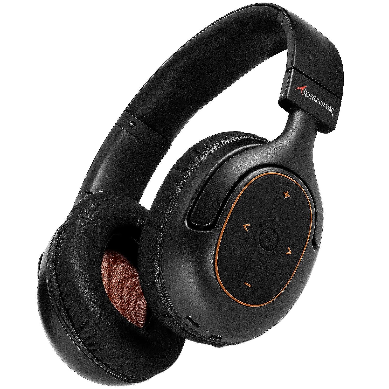 Bluetooth Headphones, Alpatronix HX101 Universal HD Noise Isolating Wireless Stereo Headset with Built-in Mic, Volume Playback Controls, AptX, CVC 6.0, BT 4.1 30 Hrs. of Playback Time – Black