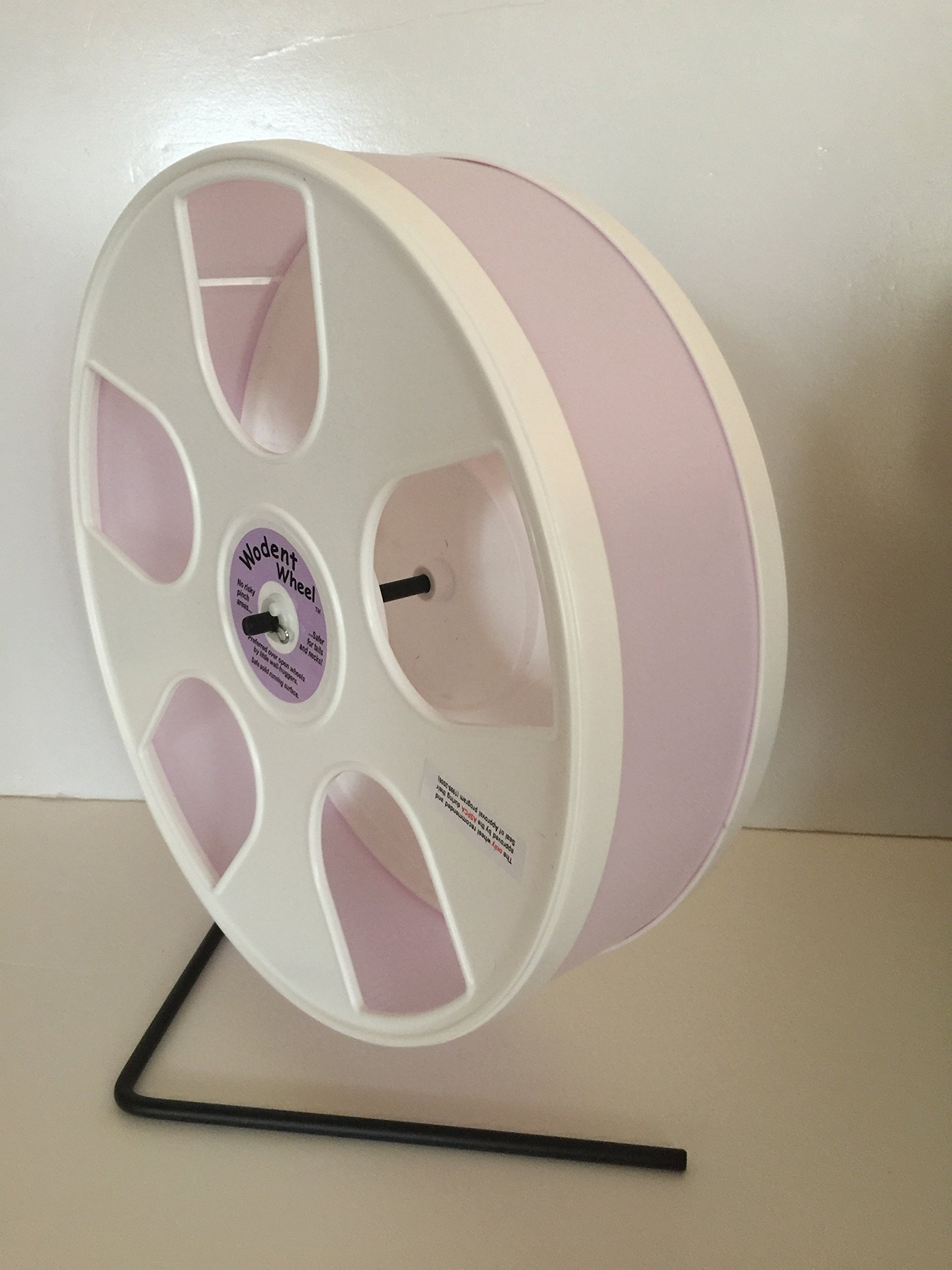 11'' WODENT Exercise Wheel (Height 12.3'') Lavender with White Panels by Unknown