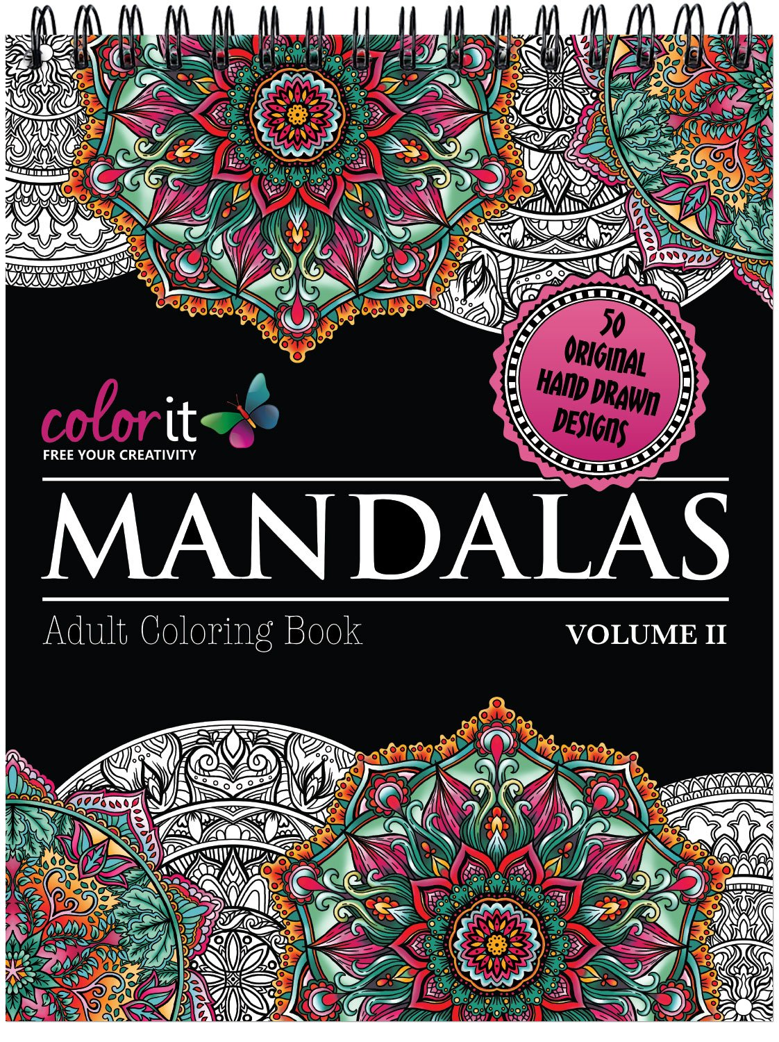 Mandalas Adult Coloring Book Perforated