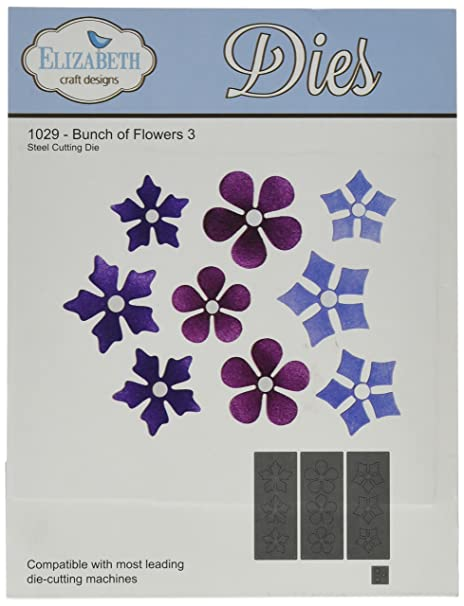 Elizabeth Craft Designs Metal Die Bunch Of Flowers 3 Amazon Co Uk