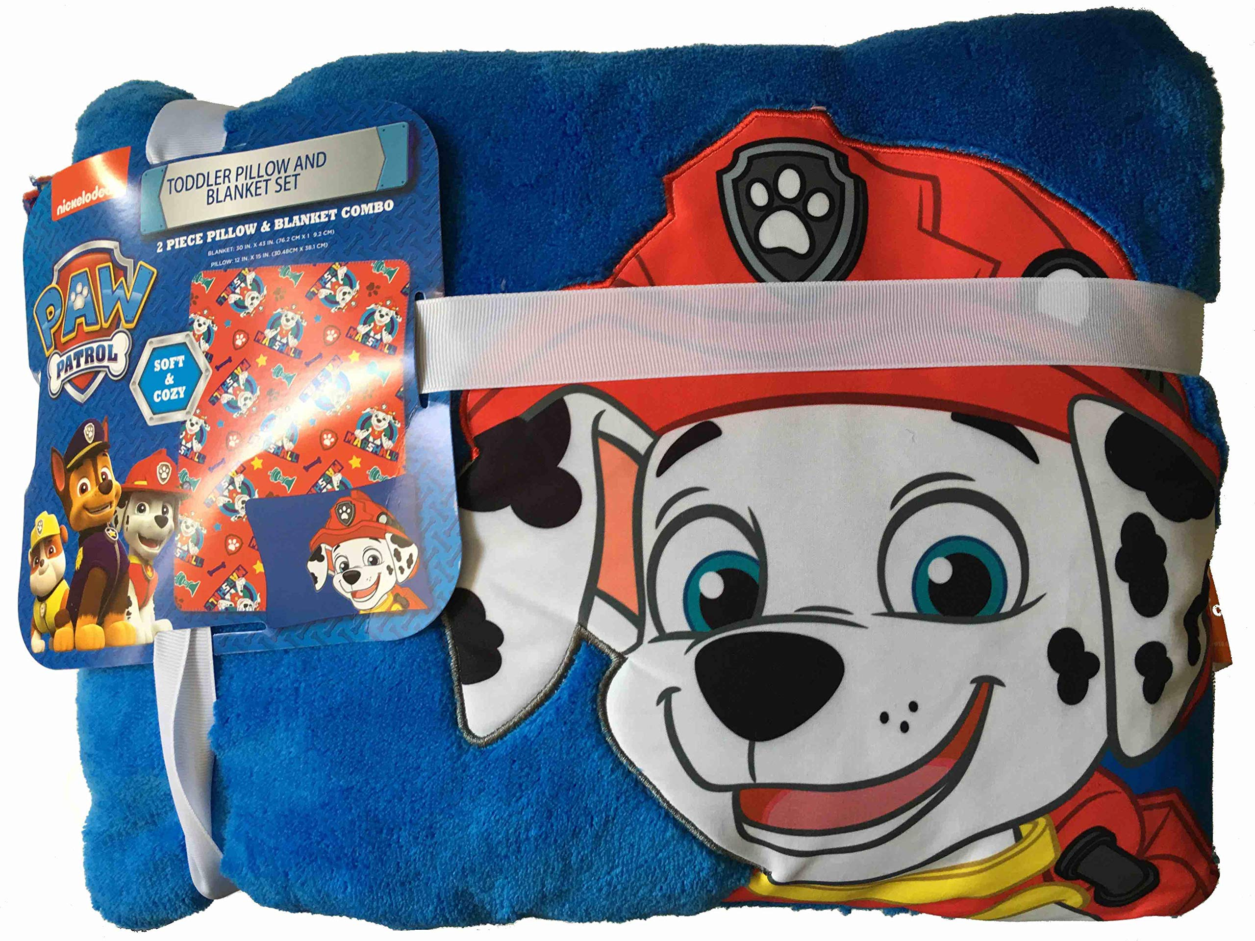The Fun House Marshall Pup Toddler Pillow and Blanket Set by The Fun House