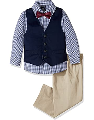 9dd259a22a4c2 Nautica Boys  4-Piece Vest Set with Dress Shirt