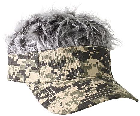 Amazon.com  Flair Hair Men s Camo Visor and Hair 595d01946b8c