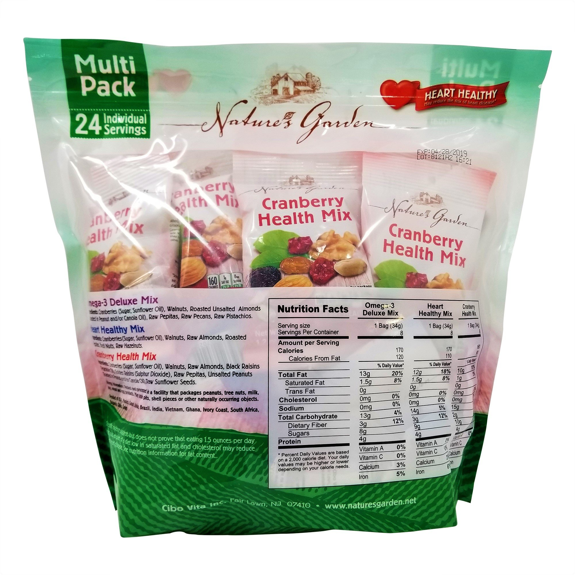 Nature's Garden Healthy Trail Mix Snack Packs 1.2 oz, Pack of 24 (Total 28.8 oz) by Nature's Garden (Image #2)